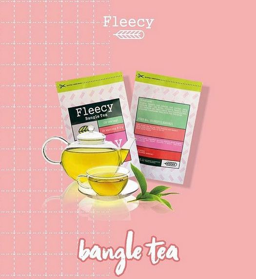 fleecy tea asli